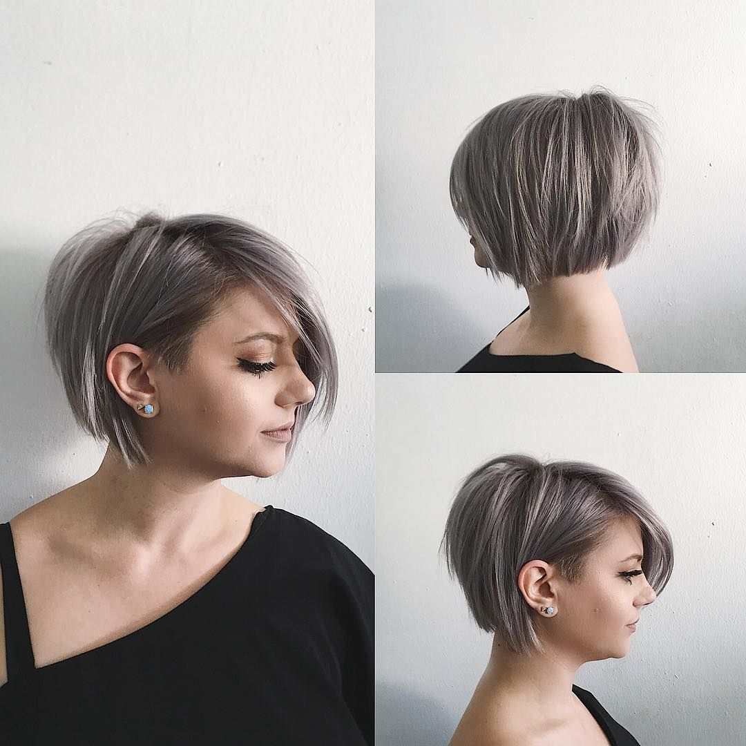 5 Hairbrushes Defying The Undone Hair Trend: This Undone Voluminous Silver Bob With Clean Lines And