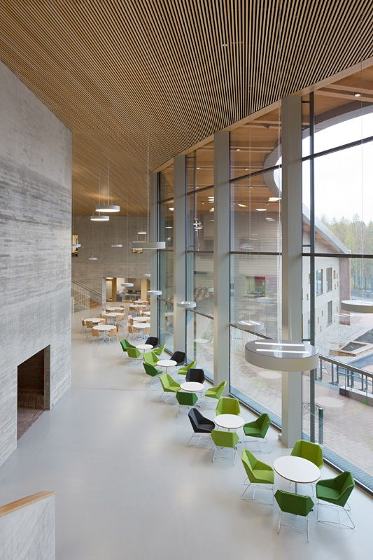 Verstas Architects Saunalahti School Exemplifies Finnish School Architecture Interior Architecture Design School Architecture School Interior