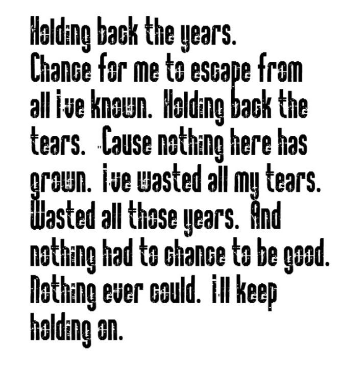 Lyric songs by lyrics : Simply Red - Holding Back The Years - song lyrics, song quotes ...