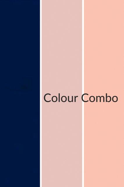 Photo of Marineblå, rødme og lakserosa fargekombinasjon, vil fungere godt i alle si …
