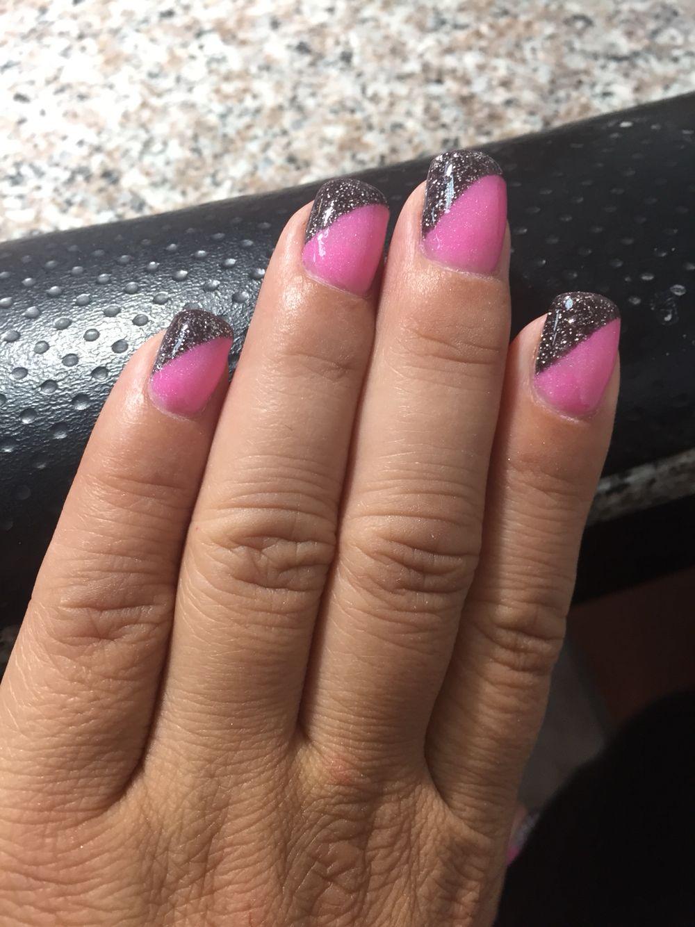 Two colors, nexgen nails   Nail art   Pinterest