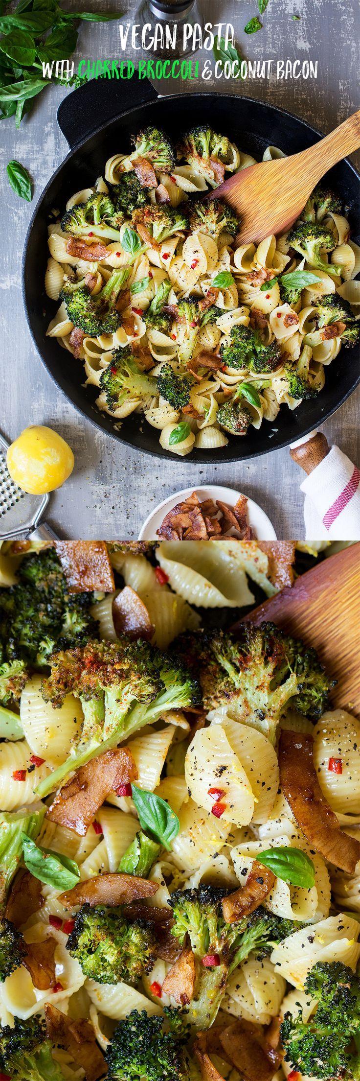 Broccoli orecchiette with vegan bacon Recipe Food