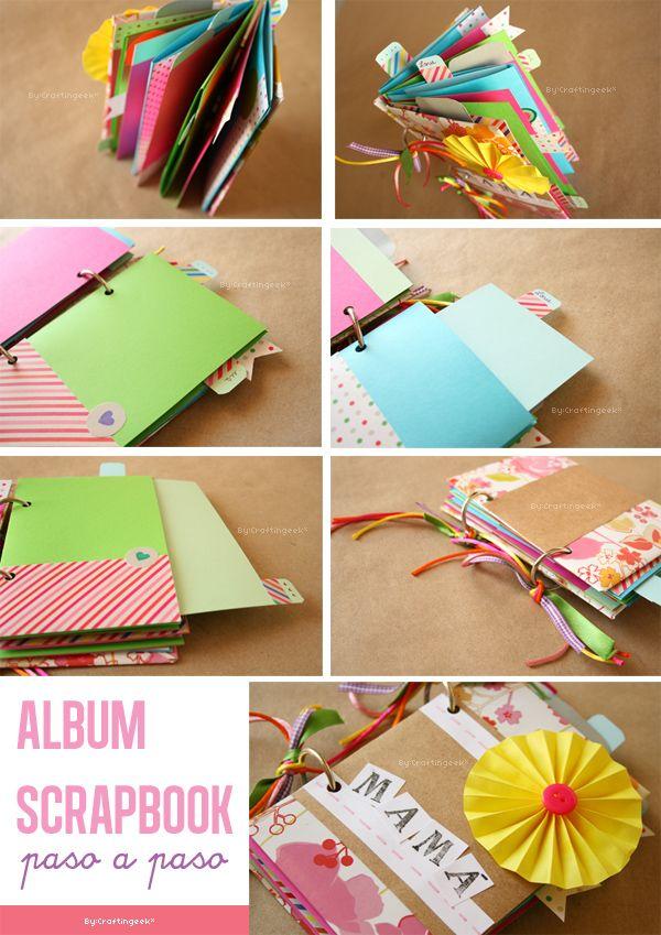 C mo hacer un album scrapbook aqu te ense amos paso a - Como hacer un album de fotos ...
