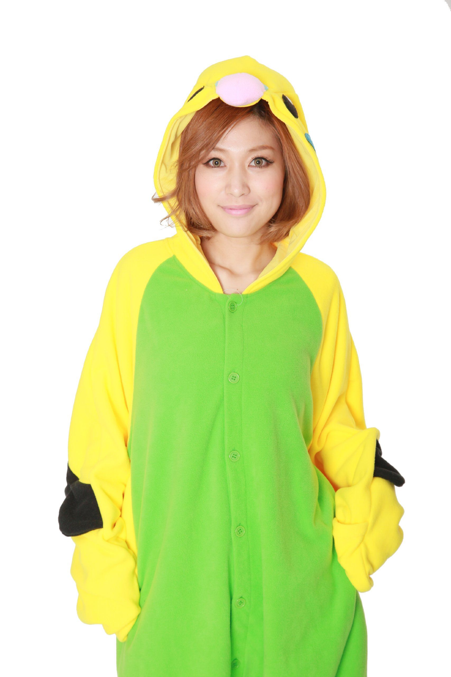 Budgie Kigurumi Adults Costume Green >>> Have a look at
