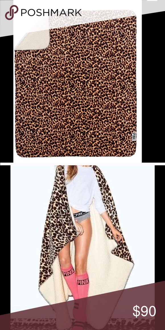 VS PINK Sherpa Brand new in packaging VS PINK cheetah Sherpa. Cheaper on merc. NO TRADES PINK Victoria's Secret Other