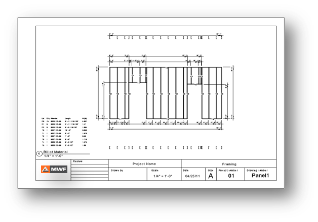 Shop drawing light gauge steel framing in Revit using MWF ...