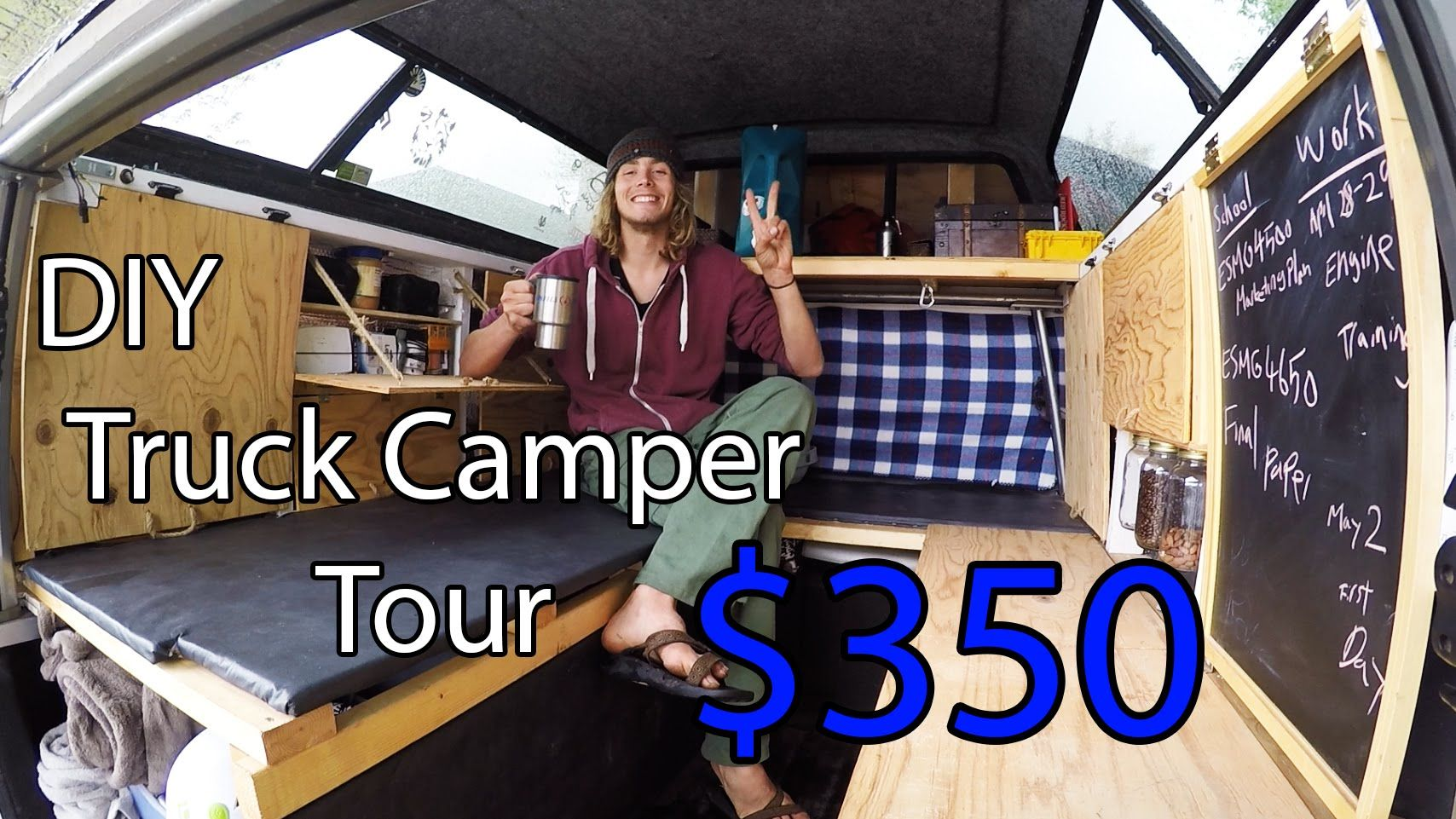 Ultimate Home Made Truck Camper Tour DIY | Truck camper ...