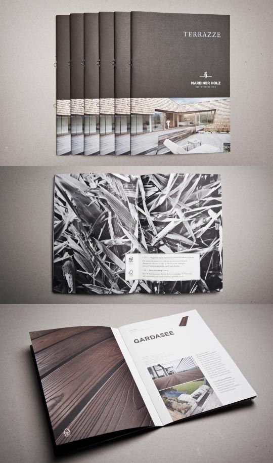 Brochure Design 25    wwwbehancenet gallery Mareiner-Holz - broken design holzmobel