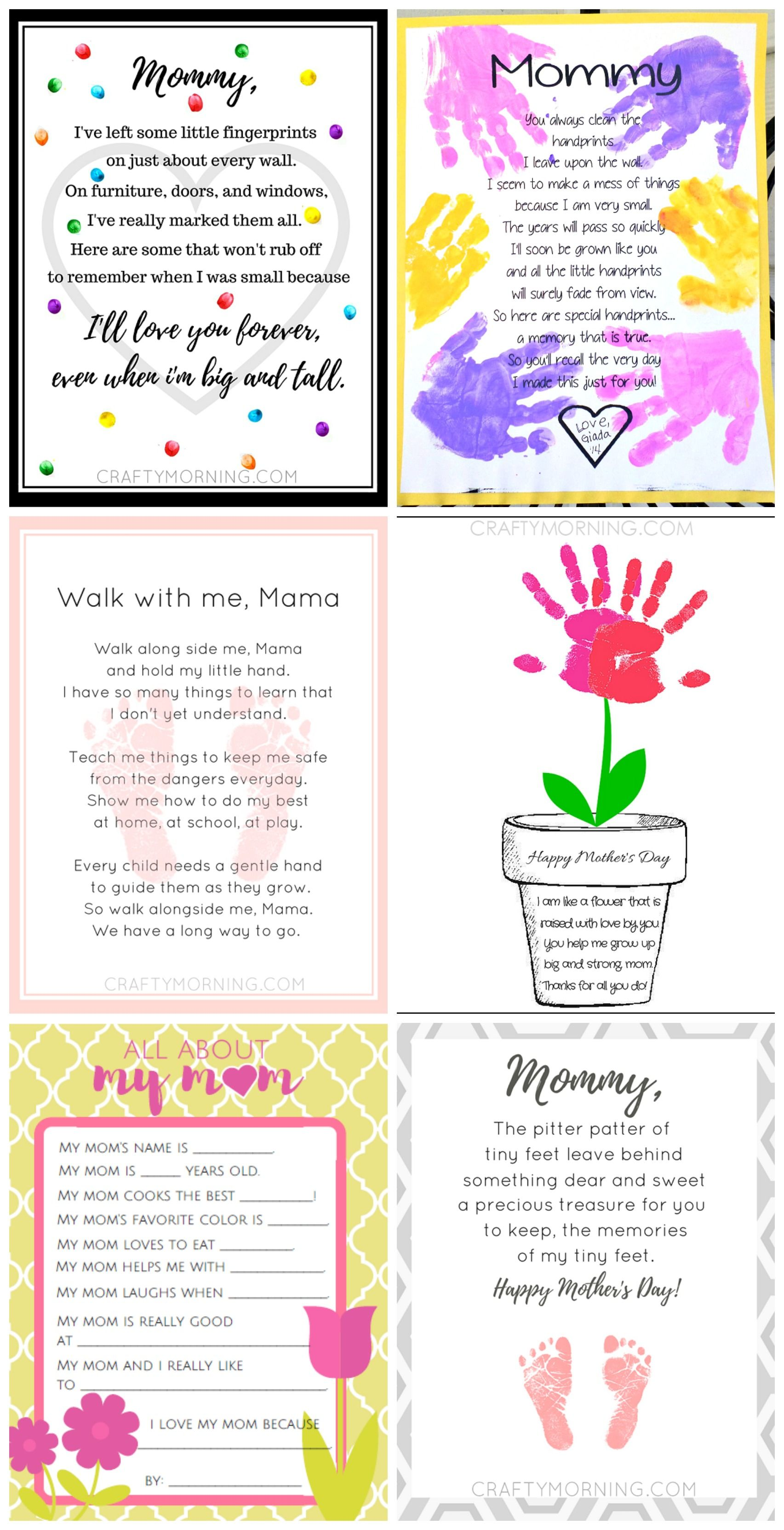 9 Free Mother S Day Printables Poems