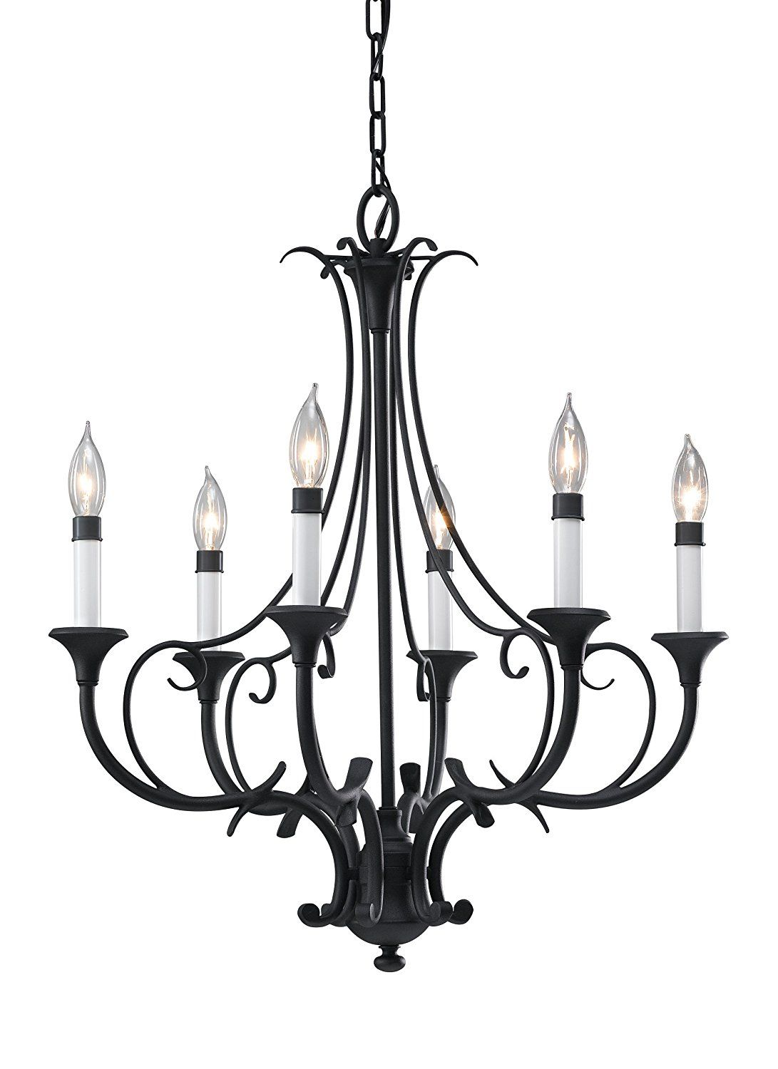 Feiss F2533 6bk 6 Bulb Chandelier Black Finish Lightfixtures Lighting Decor Lights Remodeli Black Chandelier Traditional Chandelier Chandelier Lighting
