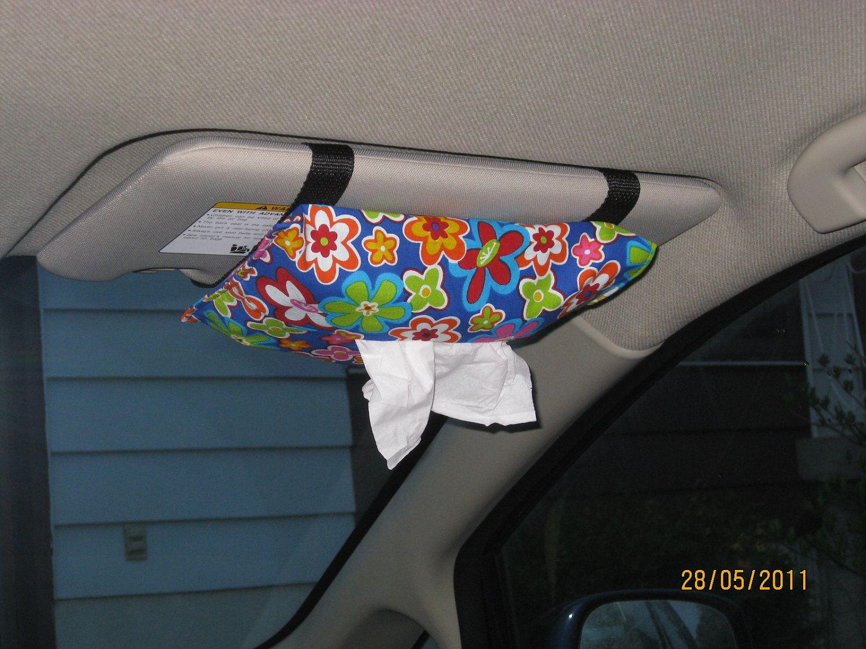 Car Tissue Storage Bag With Zip Back Seat Paper Napkin Holder Home Organizer QL