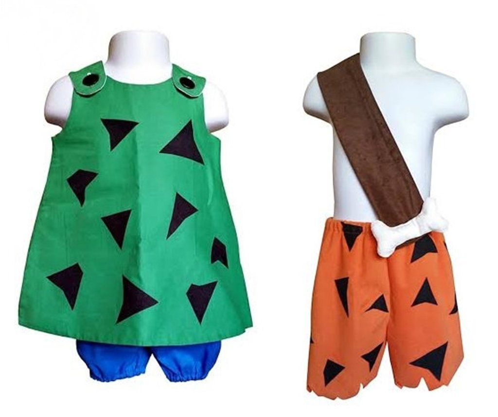 boy girl twin outfits pebbles and bam bam costume set choose boy or