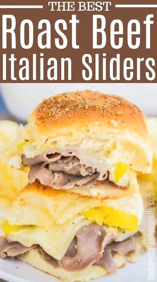 Simple to make and taste amazing Roast Beef Italian Sliders