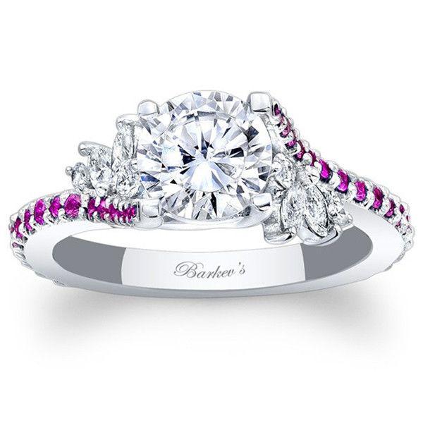 "Barkev's Pink Sapphire ""Flare"" Prong Set Diamond"