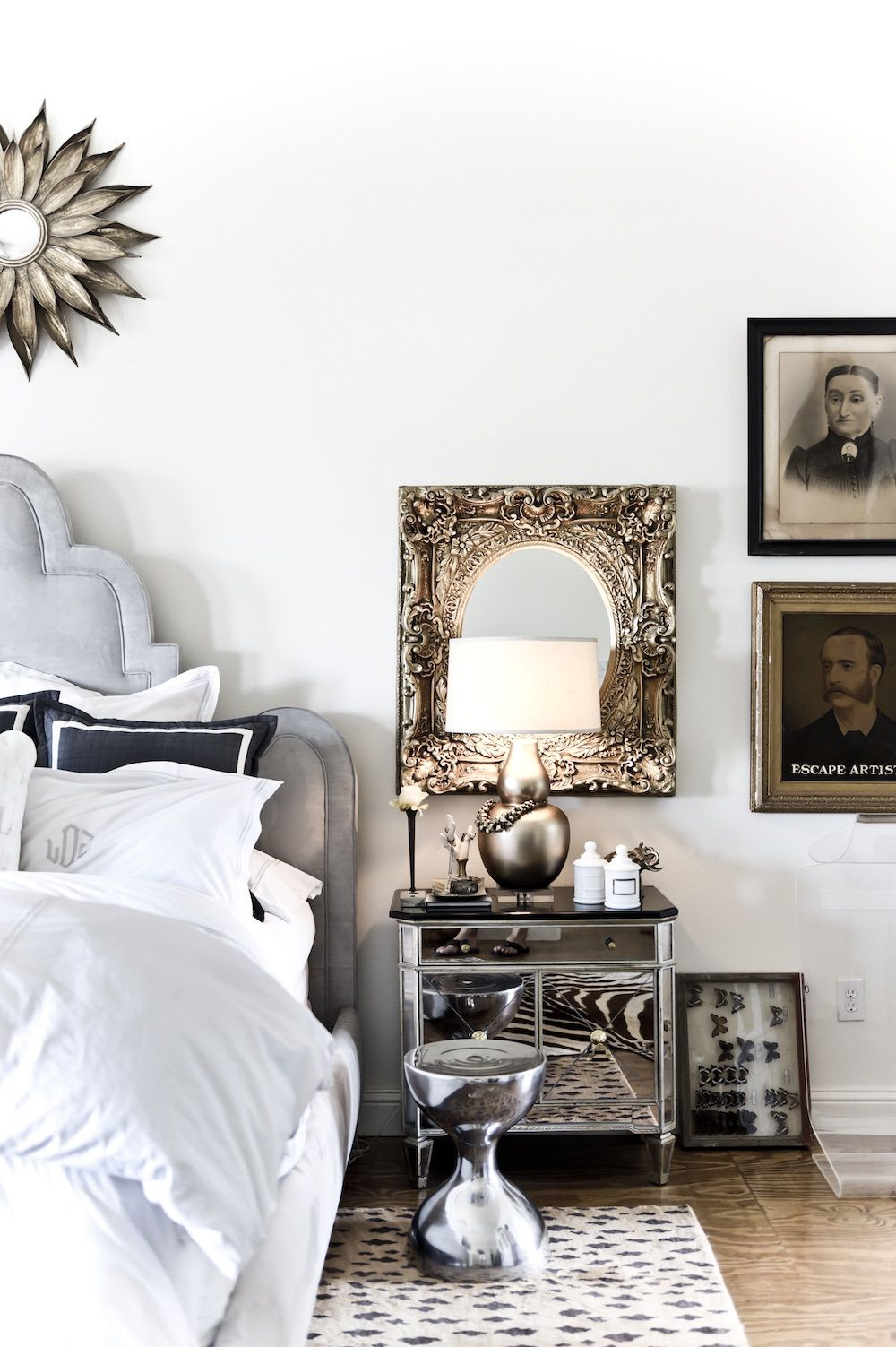Industrial Glam in Texas Boho chic bedroom, Home decor