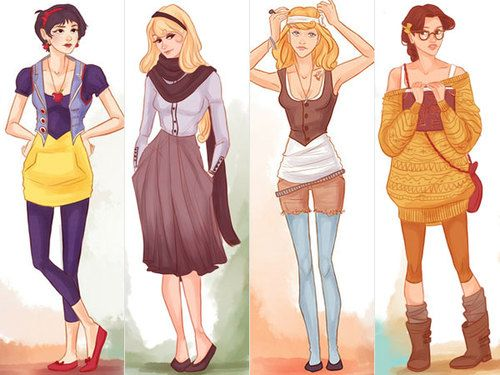 Modern day disney princesses. I would totally b belle