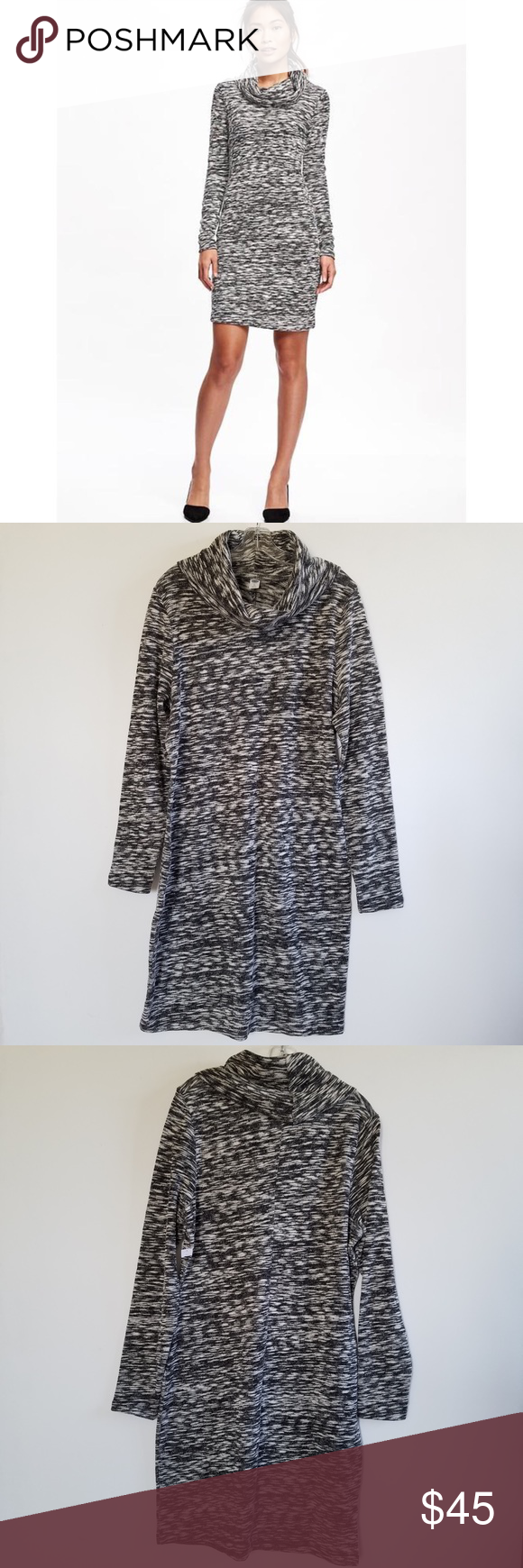 NWT Old Navy Marled Knit Sweater Dress NWT | Cowl neck sweater ...