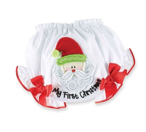 7287680aca1 Girls Bloomers with Appliqued Santa Face  14.99 w FREE SHIPPING My First  Christmas