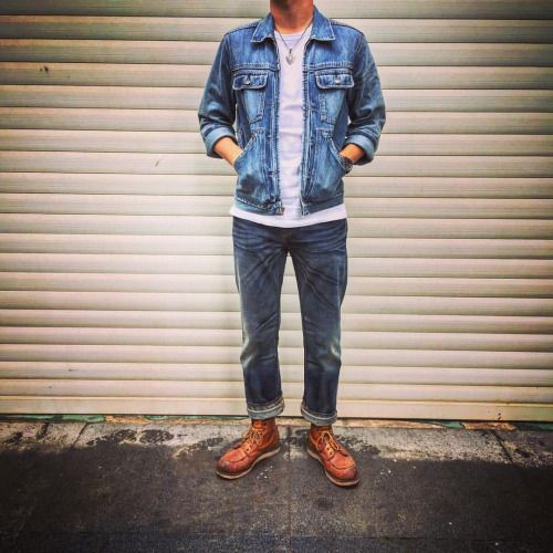 "joyhomeboy: ""Daily look! #3sixteen #gap #levis #redwing #redwingshoes #875 #Luckyjohn #jango #selvedge #indigo #denim #citizen """