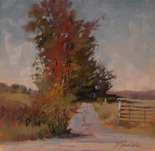 """Original Fine Art For Sale: """"The Middle Of Nowhere"""""""