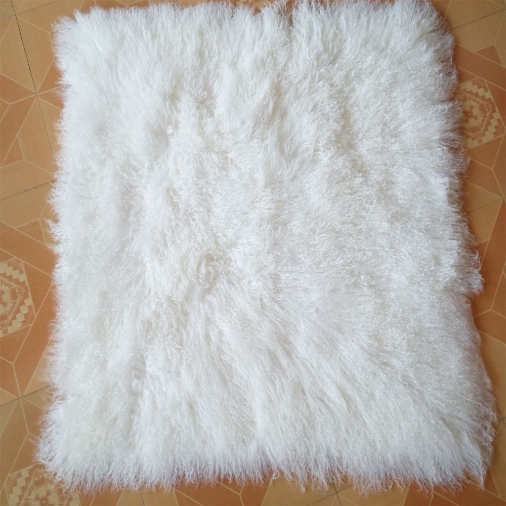 Decorative Mongolian Lamb Fur Blanket Floor Real Rug White Home Rugs And Carpets For Living Room Bed Carpet Throw Blanke Living Room Carpet Sheepskin Rug Rugs