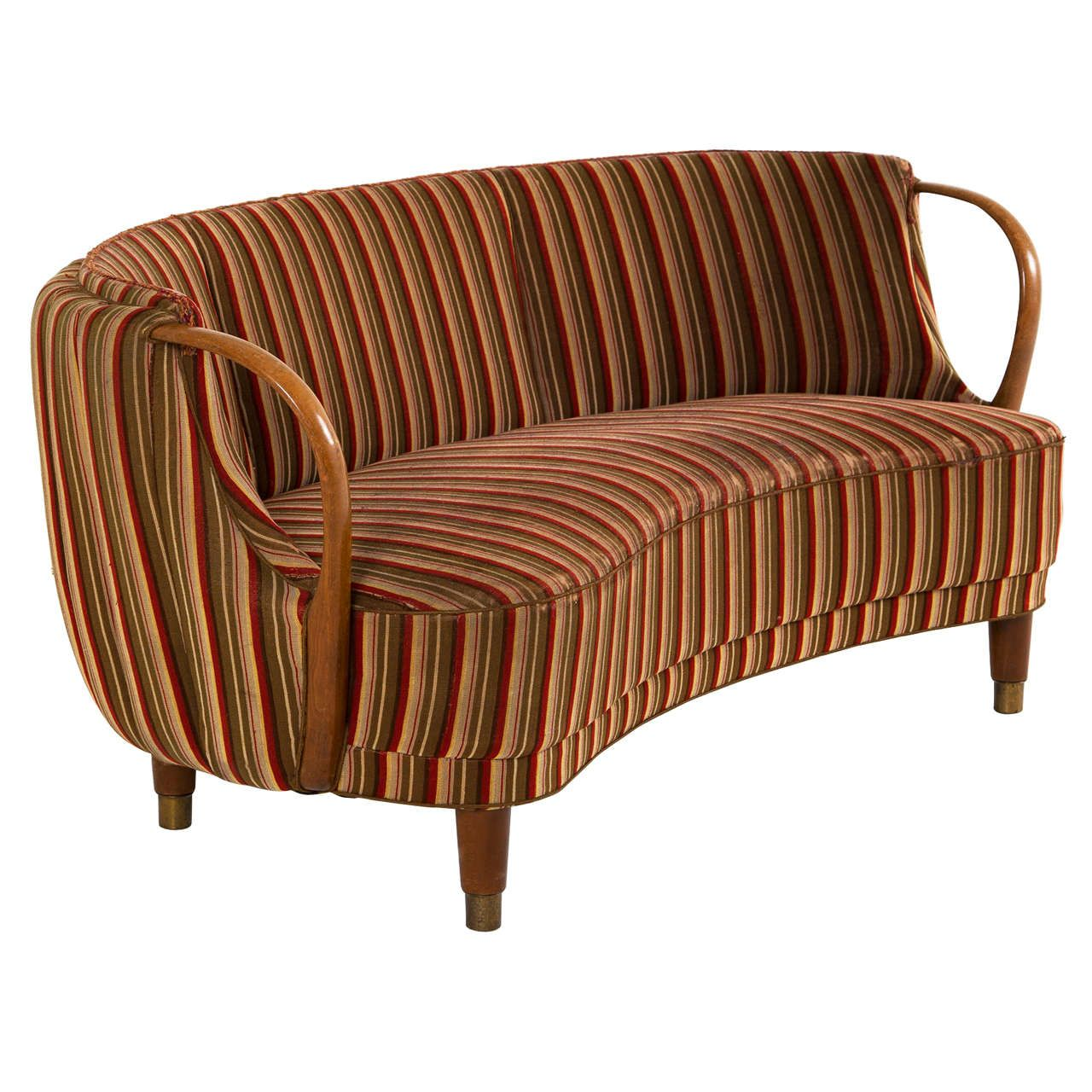 Unique Loveseats Danish Curved Loveseat From A Unique Collection Of Antique And