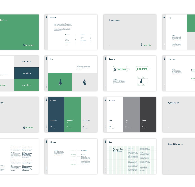 Bobshire Agency Identity & Brand Guidelines - Case Study | Grant Burke