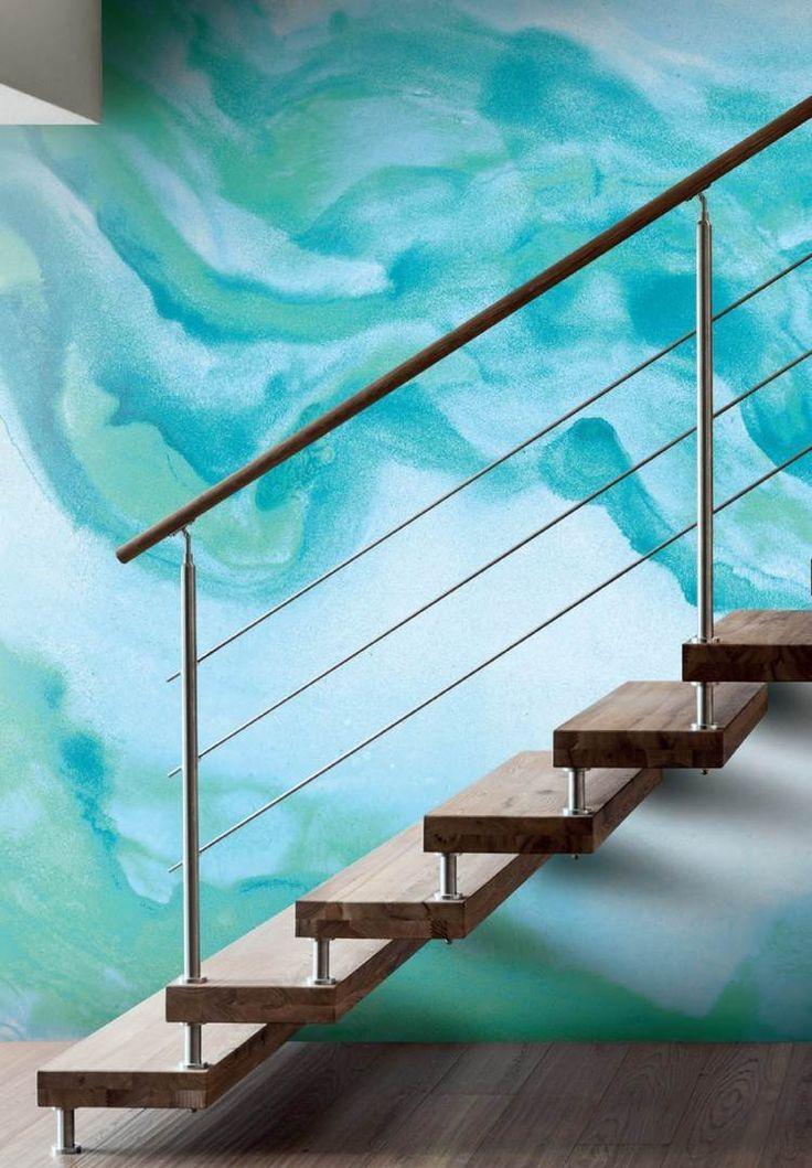 Idée Décoration Maison En Photos 2018 \u2013 peinture à l\u0027eau pour un mur - peindre un mur en bois
