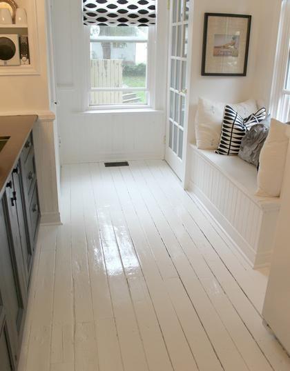 Whiten and Brighten Your Kitchen | Painted kitchen floors, Kitchen ...