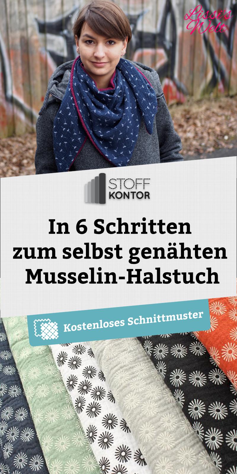 Photo of Kostenloses Schnittmuster für ein kuscheliges und weiches Musselin-Halstuch