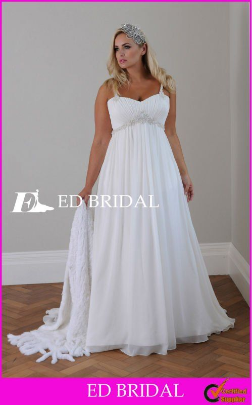 Wedding gowns empire waist google search kate 39 s for Plus size empire waist wedding dresses