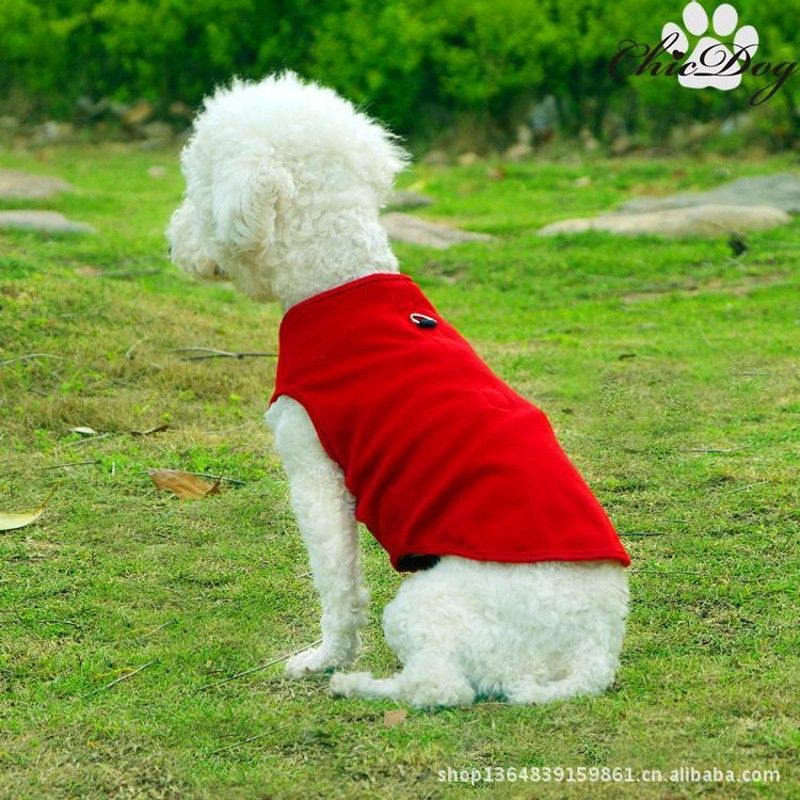 2017 Spring Summer Pet Vest T-shirt Dog Harnesses Pet Dog Clothes Solid Puppy Shirt Sizes XS-XL Free Shipping
