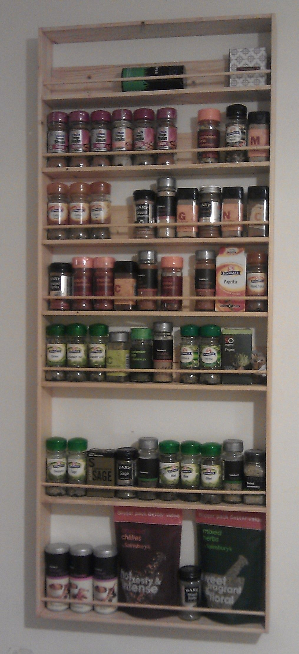 pallet spice rack instructions