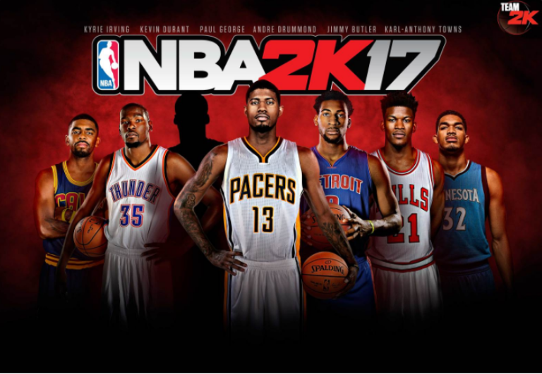 Nba 2k17 Features Cover Art Adds Kyrie Irving Paul George Jersey Hints Olympics Addition Http Www Movienewsguide C Kevin Durant Nba Karl Anthony Towns
