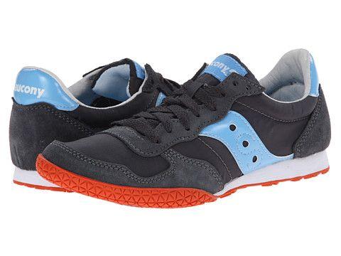 Womens Shoes Saucony Originals Bullet Charcoal/Light Blue
