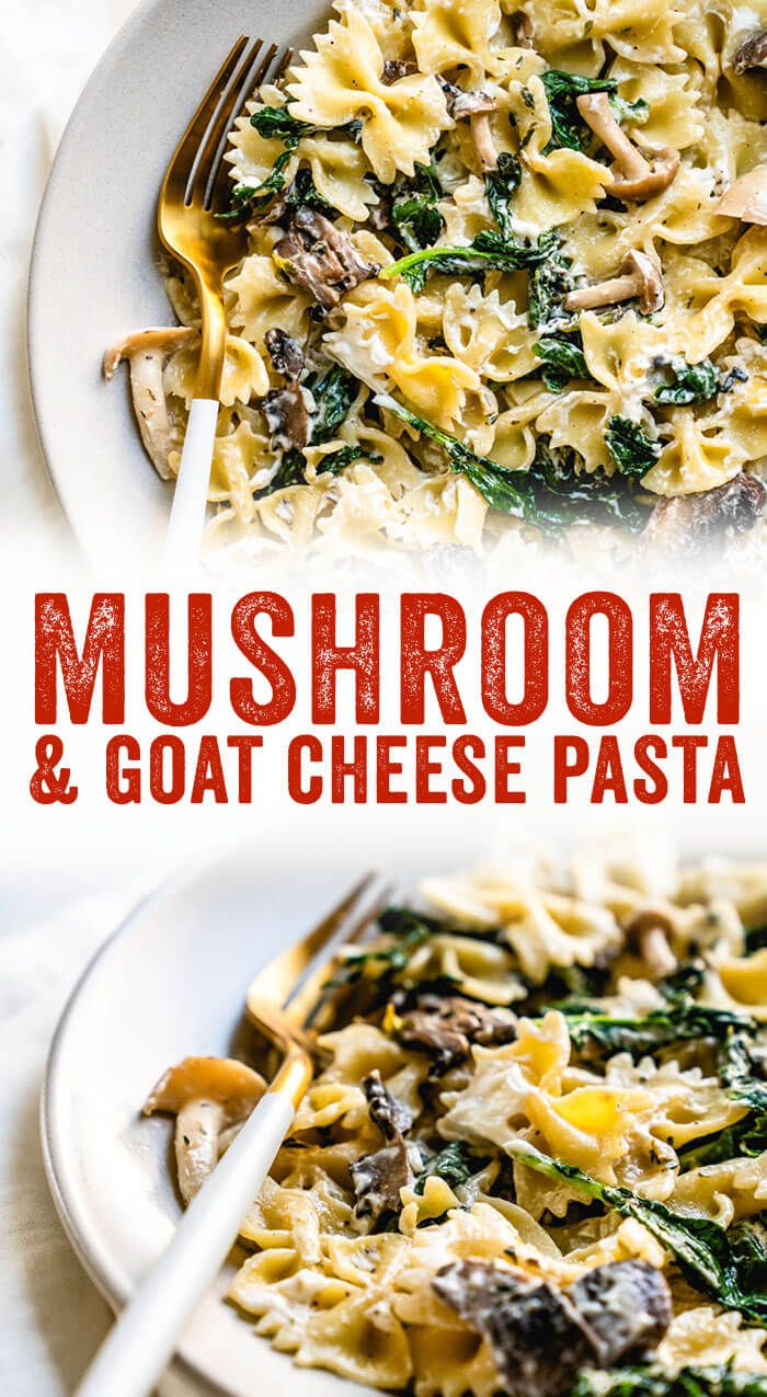 Mushroom Pasta with Goat Cheese images