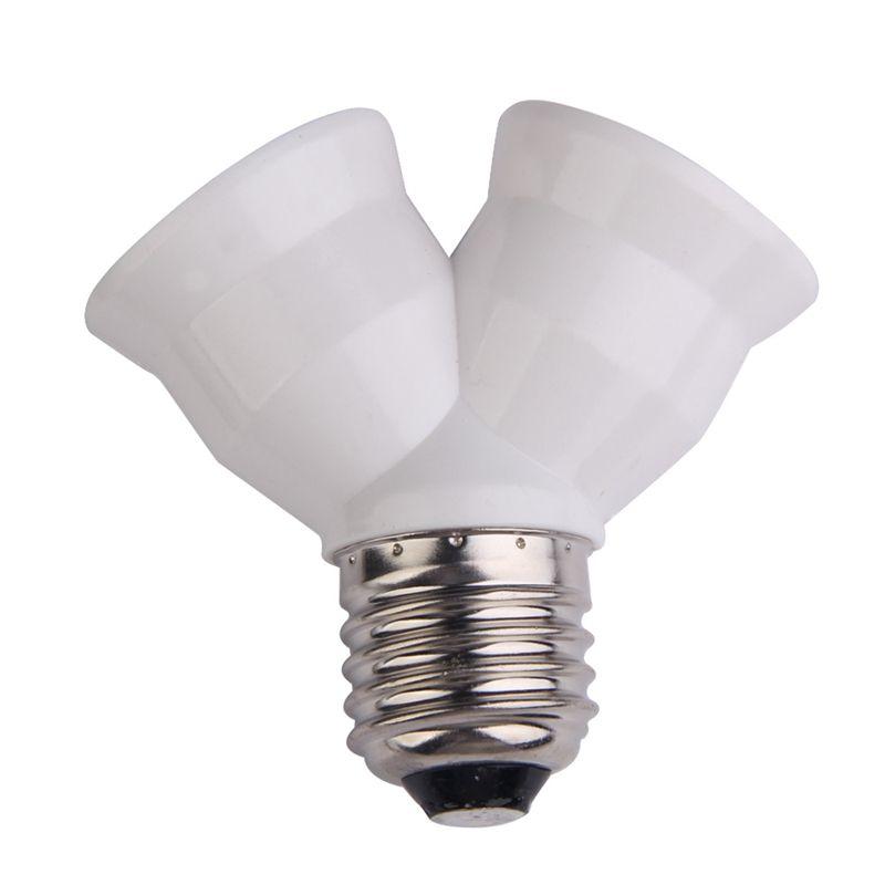 2 In 1 E27 Y Sekli Lamba Baz Yanmaz Malzeme Tutucu Donusturucu Soket Ampul Splitter Adaptoru Ampul Taban Tutucu Bulb Adapter Light Accessories Lamp Bulb