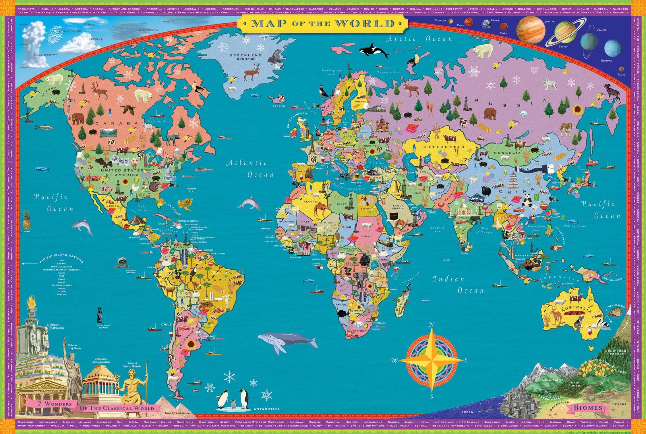 Cartina Mondo Hawaii.World Map Paper