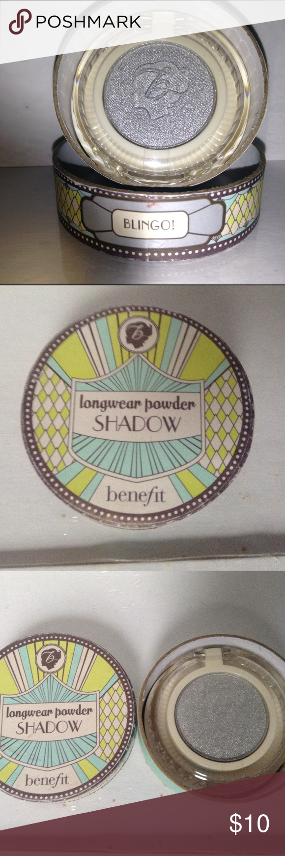 Limited Edition Benefit Longwear Powder Shadow. Color : Blingo! The box isn't perfect but the eyeshadow was never used or swatched! Only 2 available! Benefit Makeup Eyeshadow