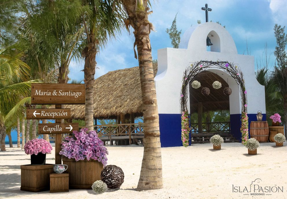 Catholic chapel by the beach @ Isla Pasion