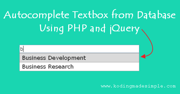 Autocomplete Textbox from Database using PHP & jQuery | PHP