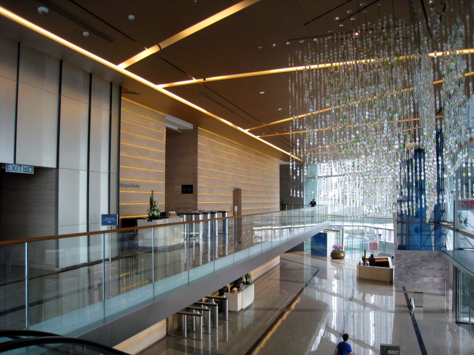 Grand office lobby international commerce centre for Interior design wikipedia