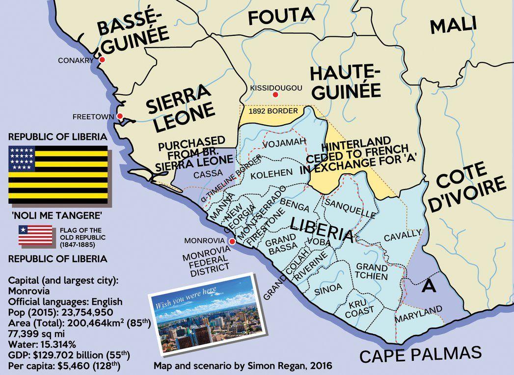 Alternate Liberia With Images Imaginary Maps Map Digital Art Fantasy
