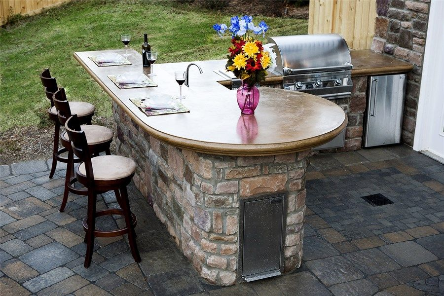 Outdoor Kitchen Countertops  Patio Design  Pinterest Magnificent Outdoor Kitchen Countertops Decorating Inspiration