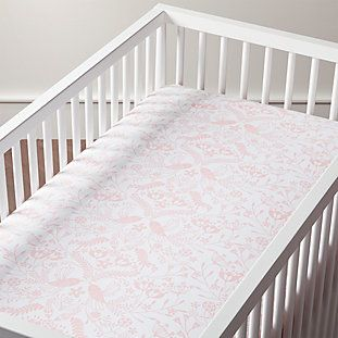 Organic Pattern Play Pink Floral Toddler Pillowcase Reviews Crate And Barrel Fitted Crib Sheet Baby Pink Bedding Baby Girl Bedding