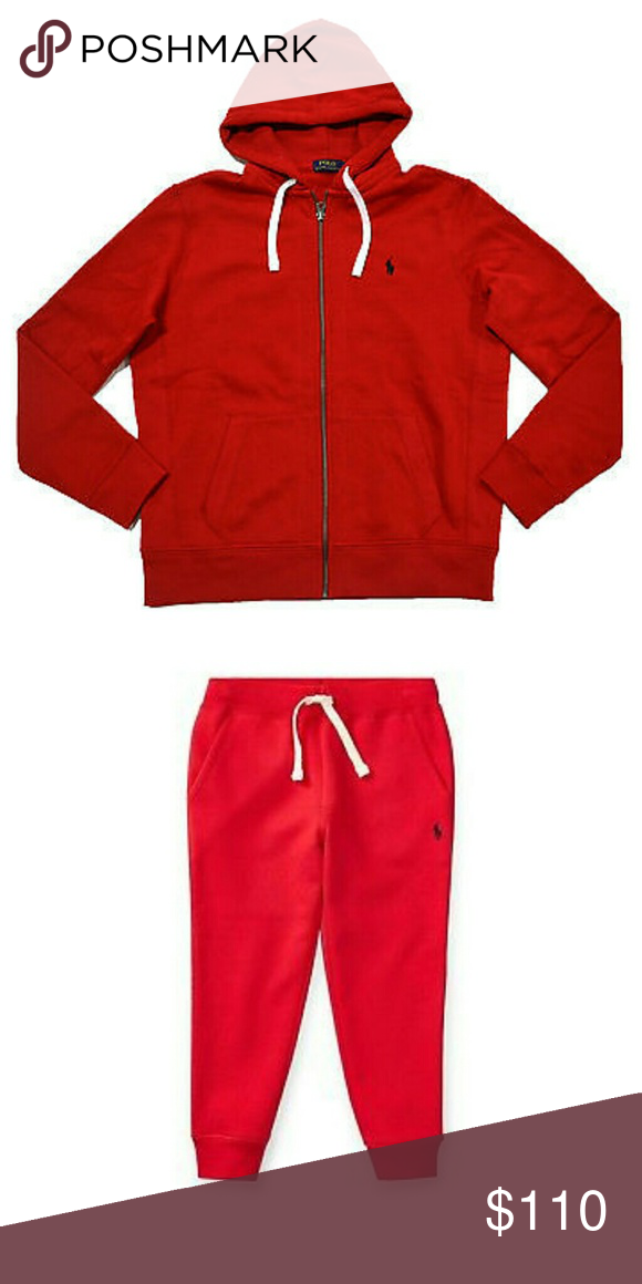 201dc1754 Polo Ralph Lauren sweat suit Men s red fleece jogger sweat suit with black  horse.. Sold as a set Polo by Ralph Lauren Pants Sweatpants   Joggers