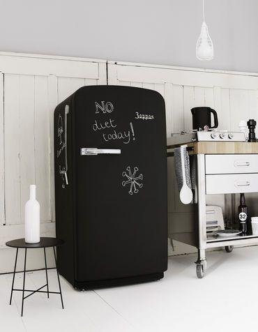 Arredo cucina fai da te: frigorifero lavagna | Refrigerator ...