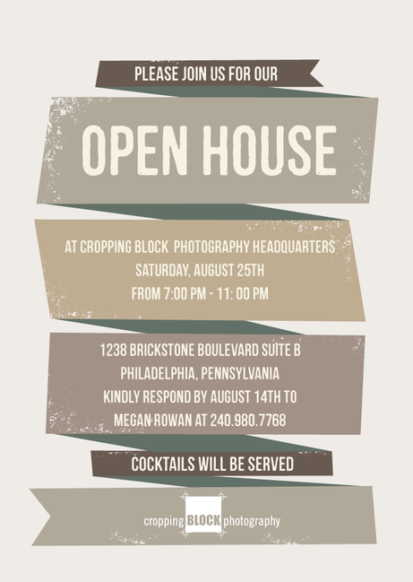 Open House Invite  Art Opening    Open House And Fonts
