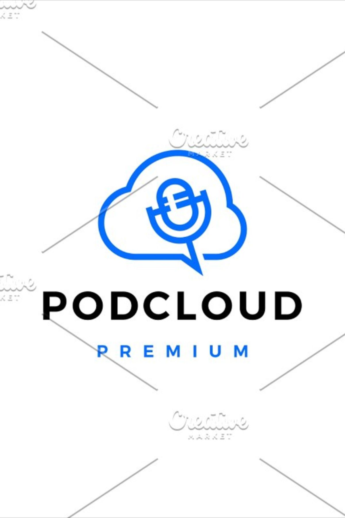 Server Cloud Podcast Logo Vector Vector Logo Logos Vector Icons Illustration