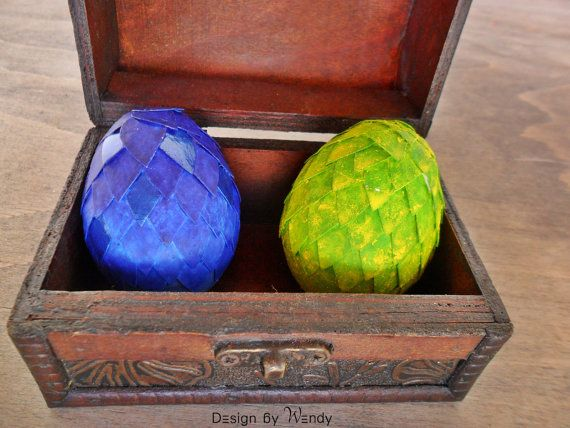 Dragon Eggs In Wooden Chest With Dragon Story And Dragon Keeper